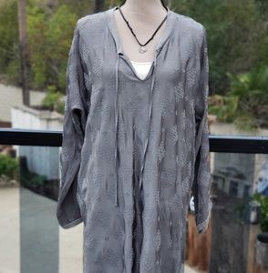 Nwt Johnny Was embroidered Satin tunic S